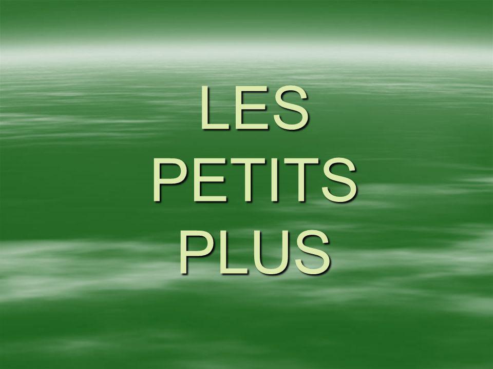 LES PETITS PLUS
