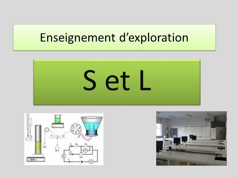 Enseignement dexploration S et L