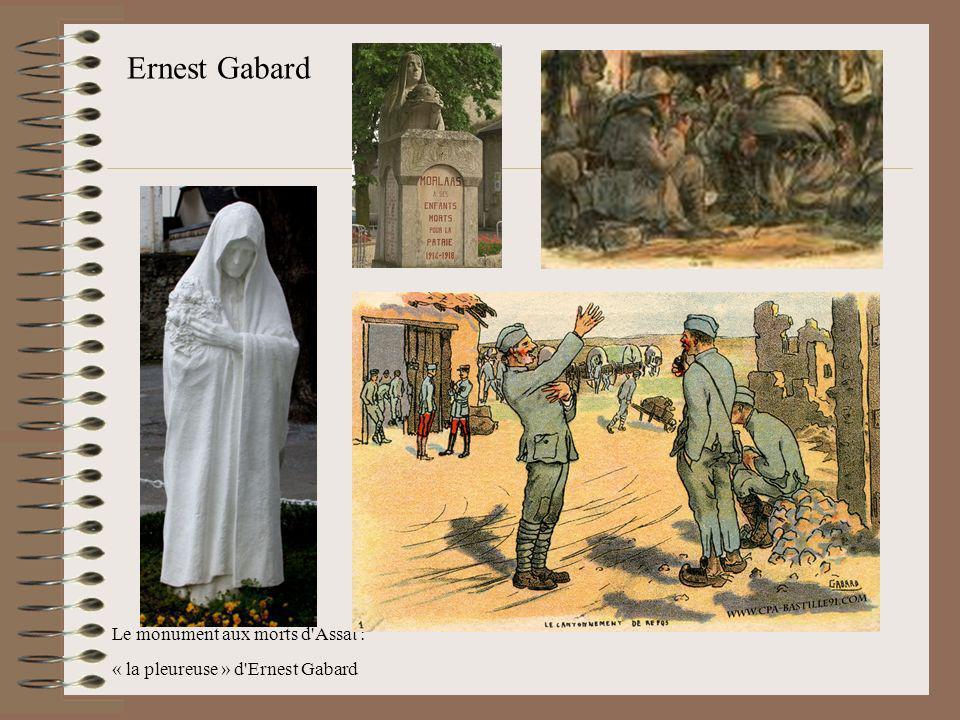 Ernest Gabard Le monument aux morts d'Assat : « la pleureuse » d'Ernest Gabard
