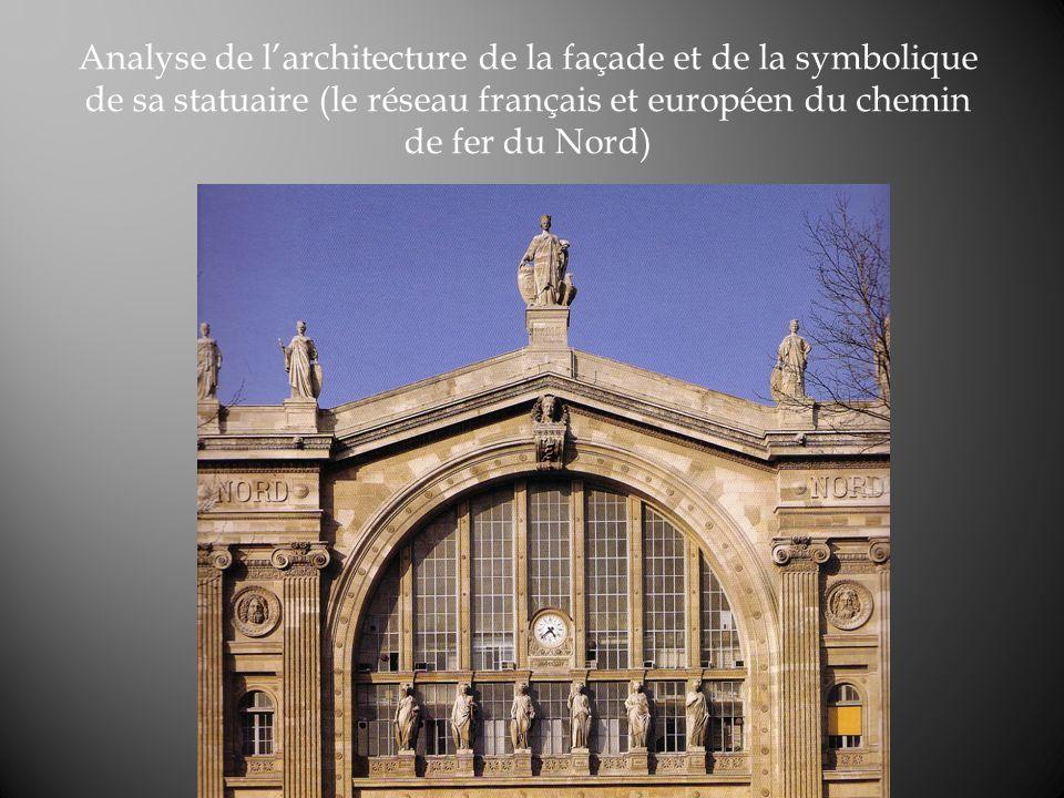 Analyse de larchitecture de la façade et de la symbolique de sa statuaire (le réseau français et européen du chemin de fer du Nord)