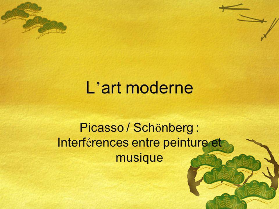 L art moderne Picasso / Sch ö nberg : Interf é rences entre peinture et musique