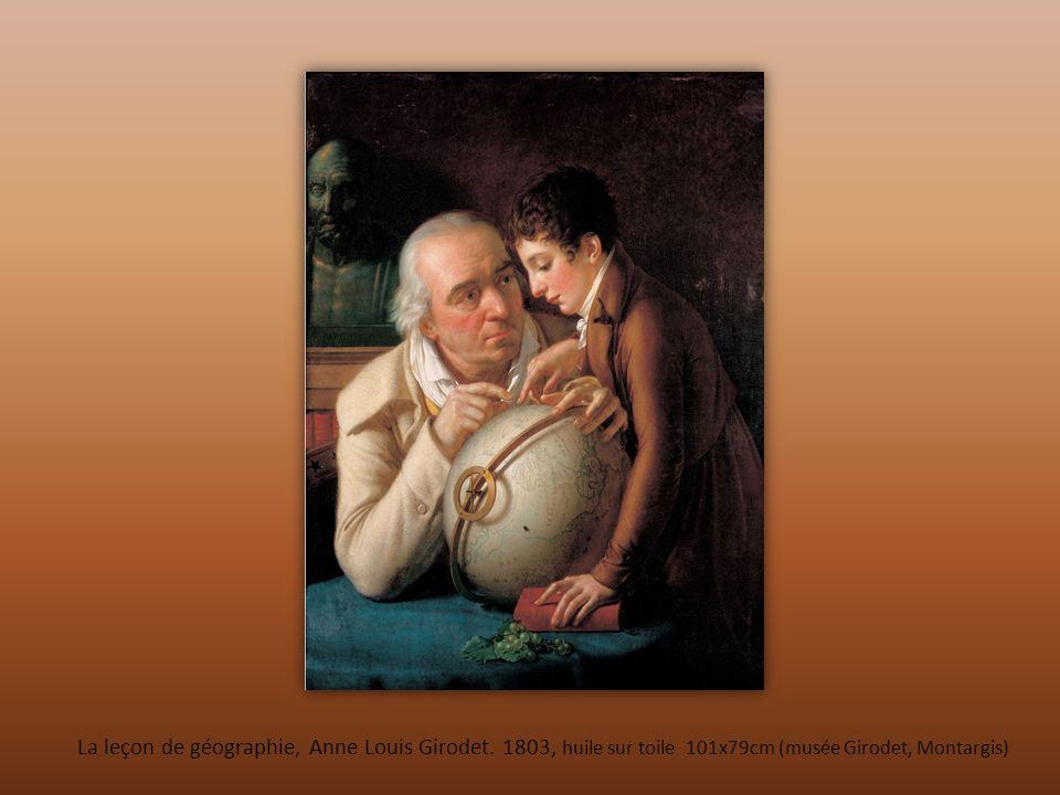 La leçon de géographie, Anne Louis Girodet. 1803, huile sur toile 101x79cm (musée Girodet, Montargis)