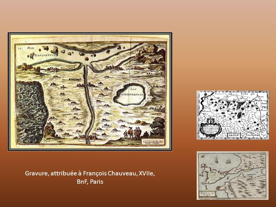 Gravure, attribuée à François Chauveau, XVIIe, BnF, Paris