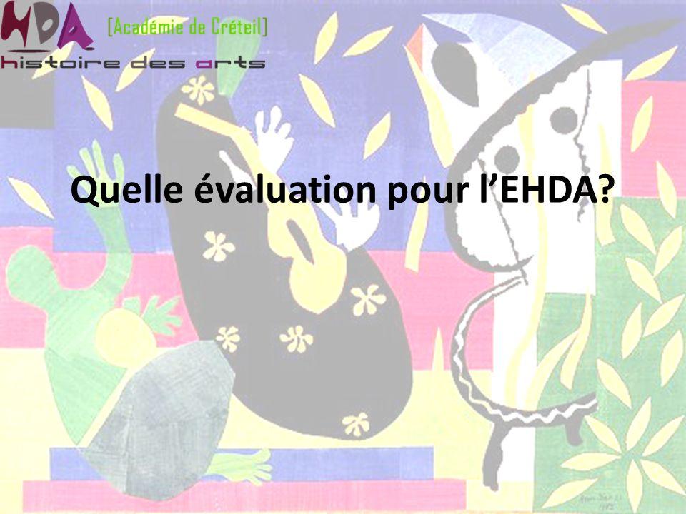 Quelle évaluation pour lEHDA