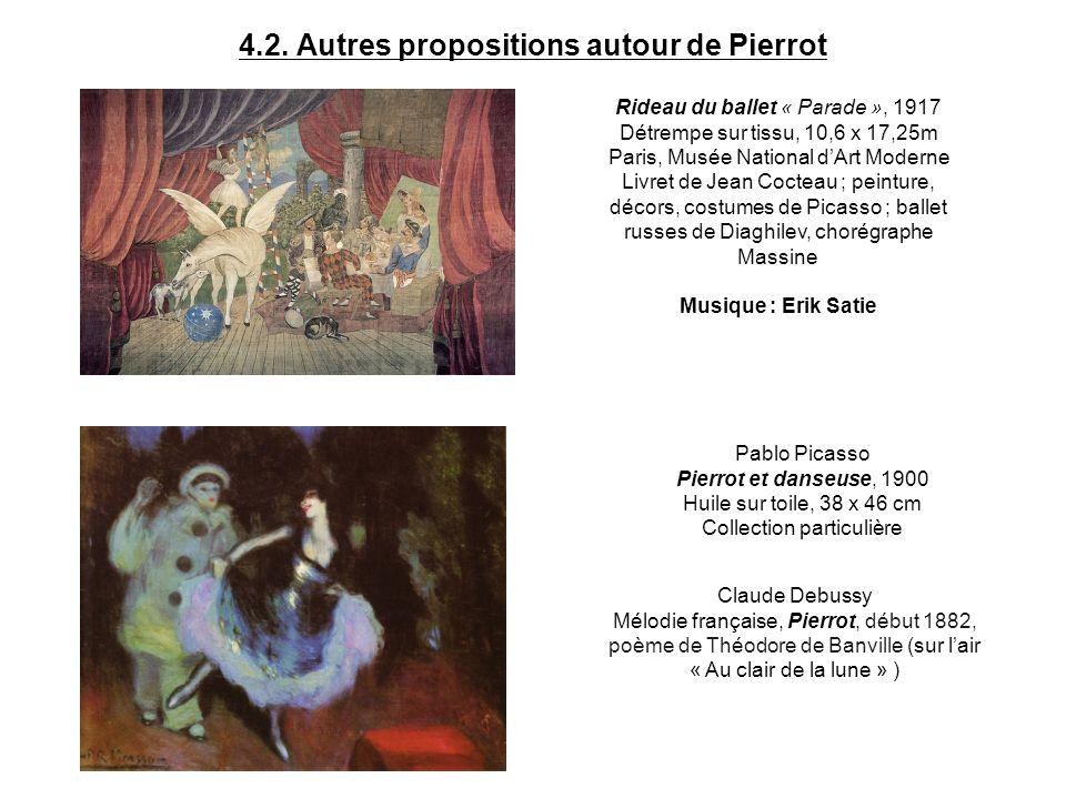 4.2. Autres propositions autour de Pierrot Rideau du ballet « Parade », 1917 Détrempe sur tissu, 10,6 x 17,25m Paris, Musée National dArt Moderne Livr