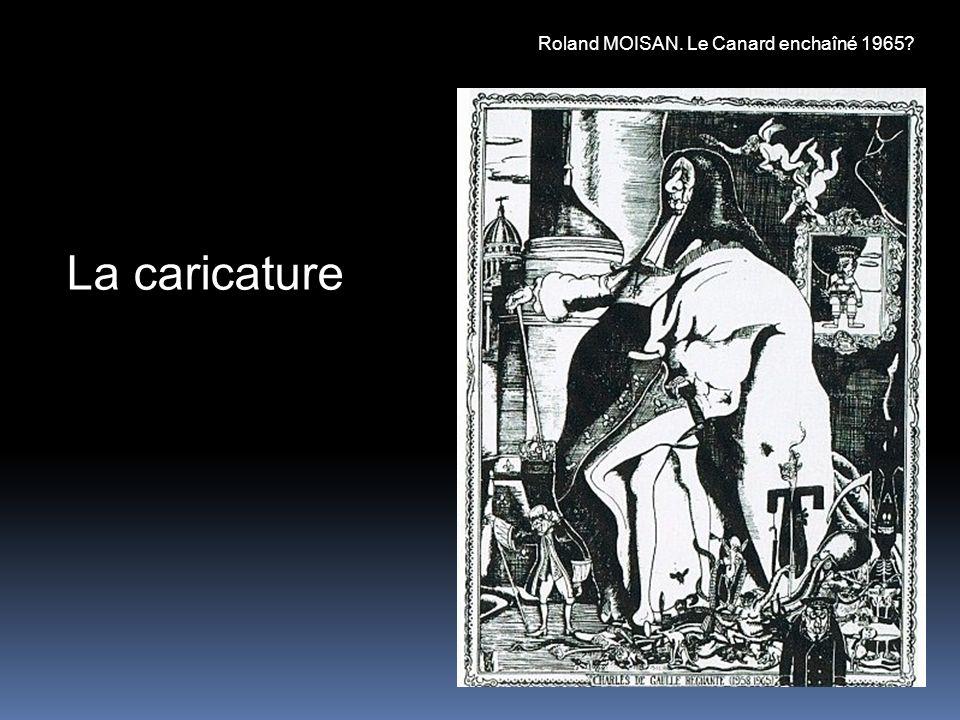 La caricature Roland MOISAN. Le Canard enchaîné 1965?
