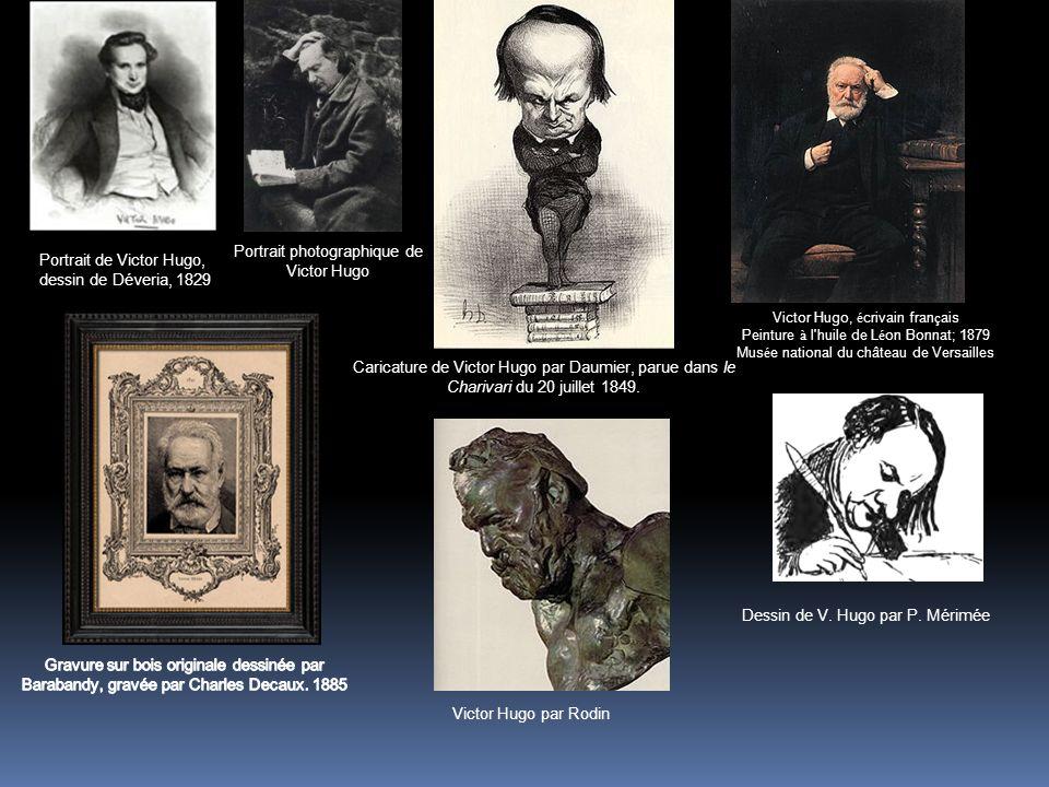 Victor Hugo, é crivain fran ç ais Peinture à l'huile de L é on Bonnat; 1879 Mus é e national du château de Versailles Portrait de Victor Hugo, dessin