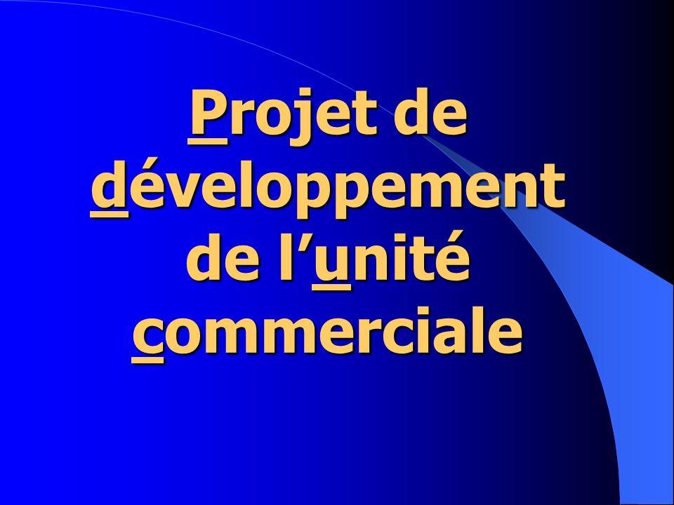 Projet de développement de lunité commerciale