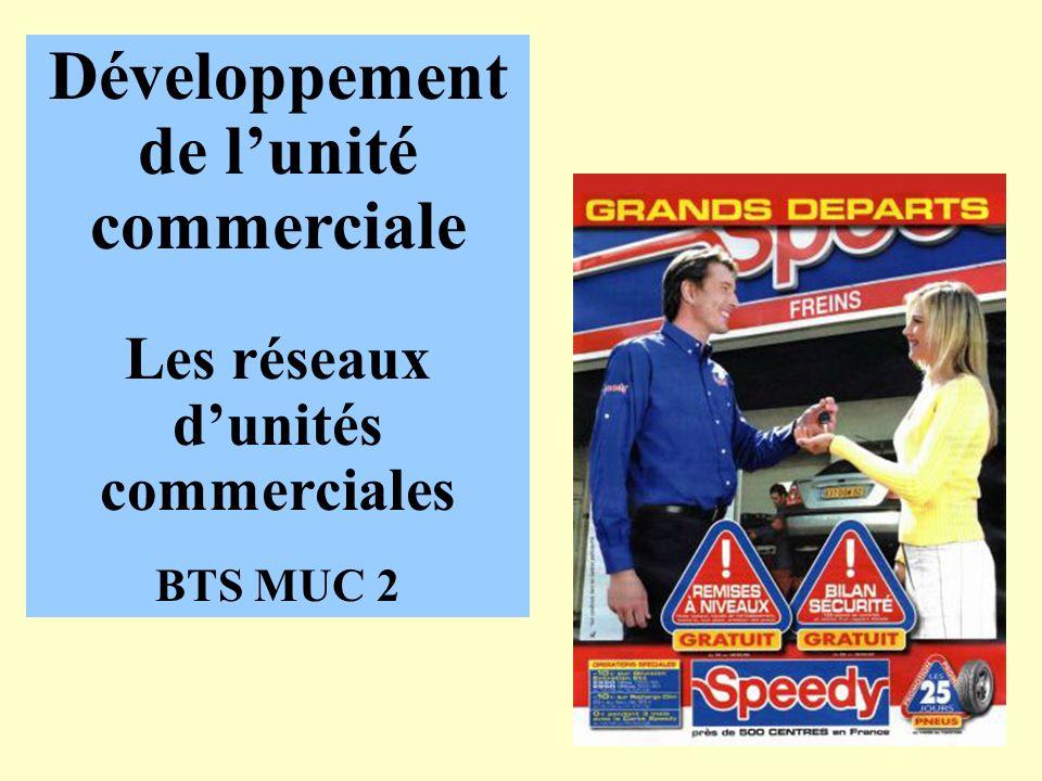 Développement de lunité commerciale Les réseaux dunités commerciales BTS MUC 2