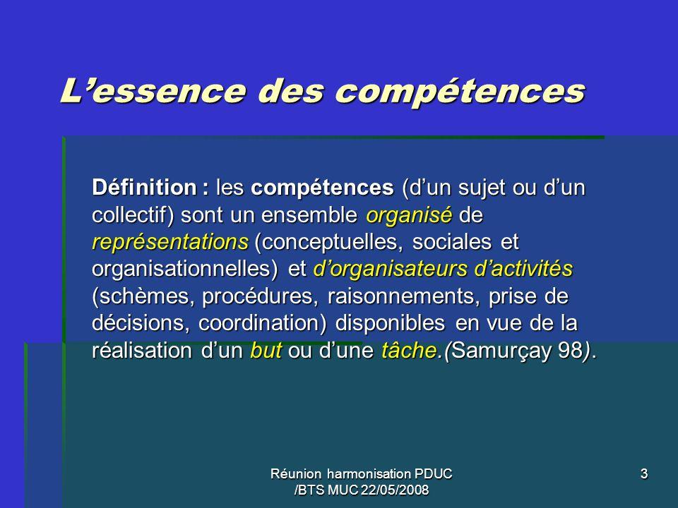 3 Lessence des compétences Définition : les compétences (dun sujet ou dun collectif) sont un ensemble organisé de représentations (conceptuelles, soci