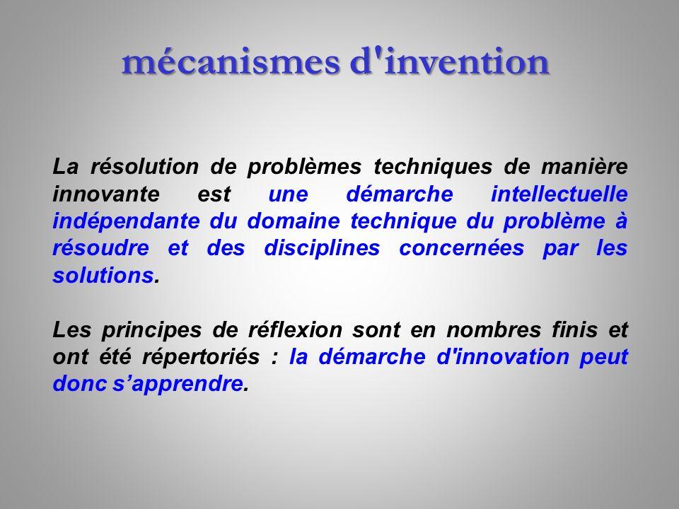 La résolution de problèmes techniques de manière innovante est une démarche intellectuelle indépendante du domaine technique du problème à résoudre et