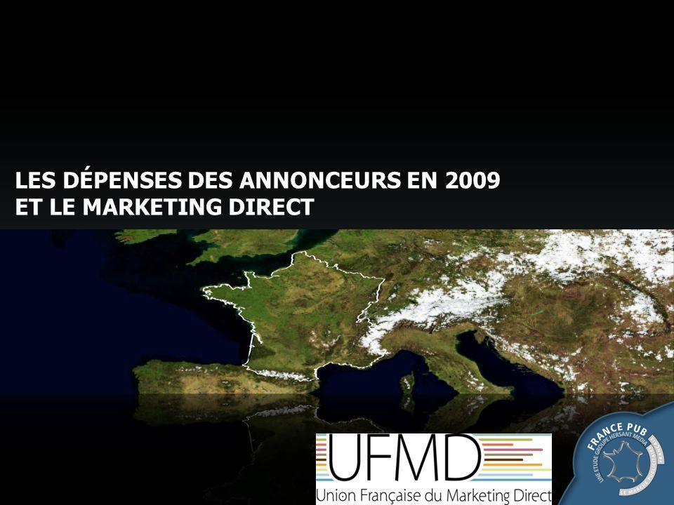 Part des dépenses en MD ( papier et téléphone, hors e-mailing) des 28 secteurs Étude France Pub/UFMD