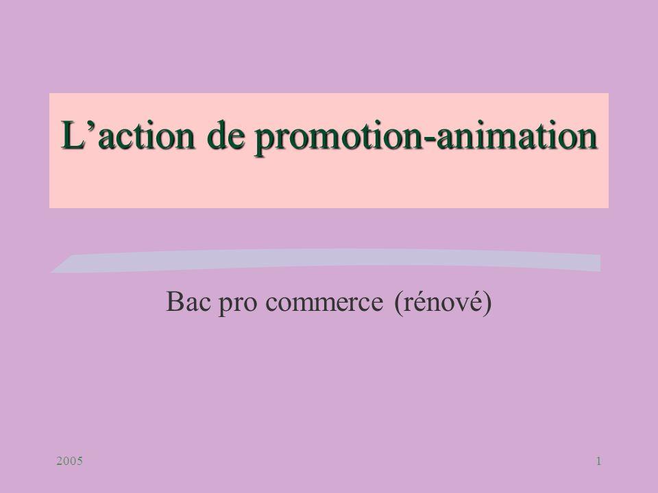 20051 Laction de promotion-animation Bac pro commerce (rénové)