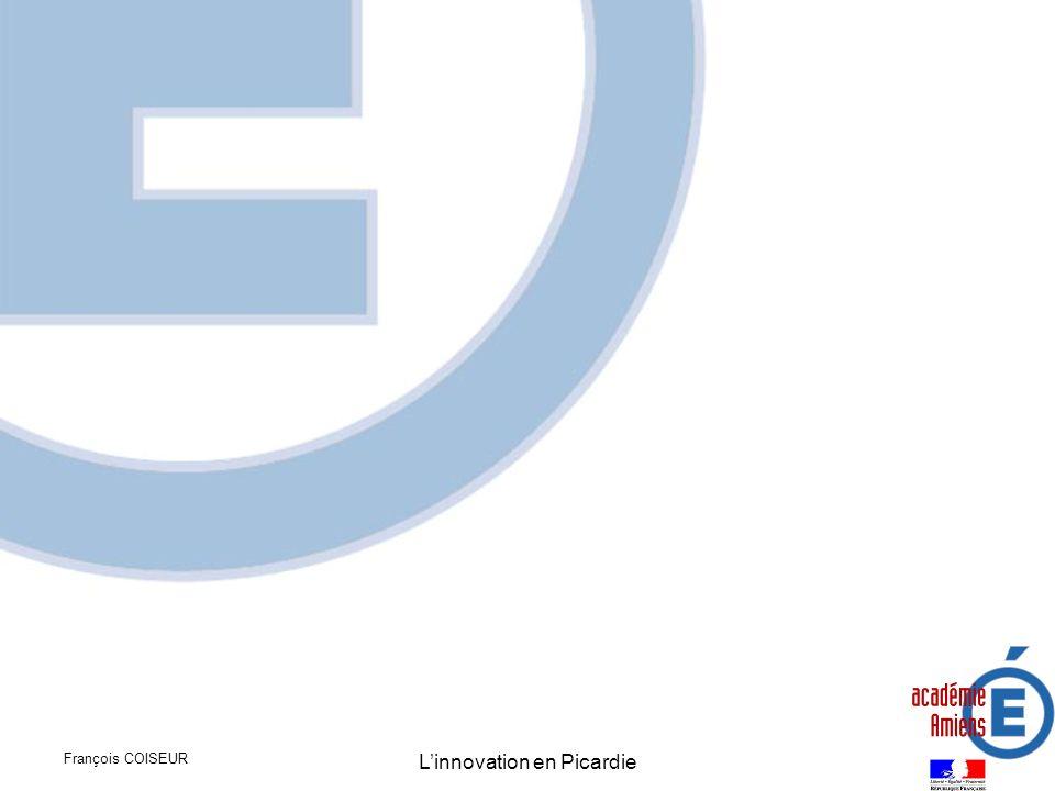 François COISEUR Linnovation en Picardie Carte des compétences mobilisables autour de la mécatronique Développement associé aux compétences du Vimeu pour la fabrication d ensembles de plus en plus performants (robinetterie et serrurerie) mais aussi aux compétences liées à la recherche médicale (Prothèses,…)