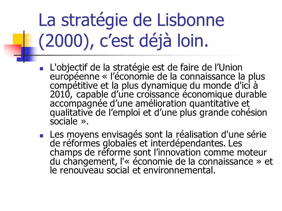 La stratégie de Lisbonne (2000), cest déjà loin.
