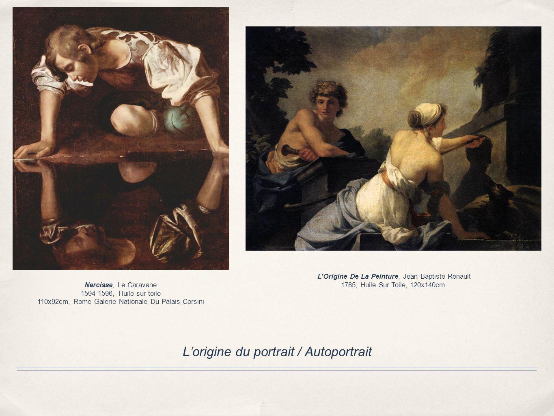 Lorigine du portrait / Autoportrait Narcisse, Le Caravane 1594-1596, Huile sur toile 110x92cm, Rome Galerie Nationale Du Palais Corsini LOrigine De La