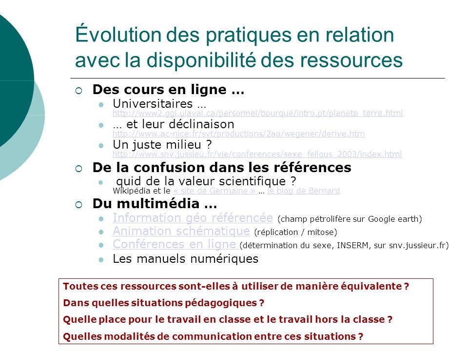 Des cours en ligne … Universitaires … http://www2.ggl.ulaval.ca/personnel/bourque/intro.pt/planete_terre.html http://www2.ggl.ulaval.ca/personnel/bour