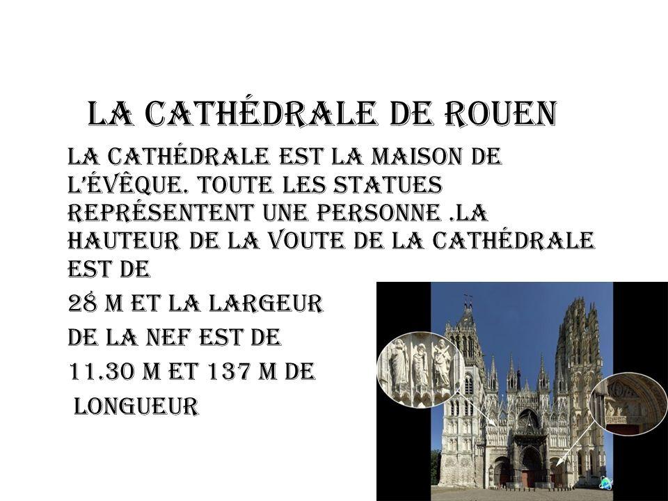 LA Cathédrale de Rouen La cathédrale est la maison de lévêque.