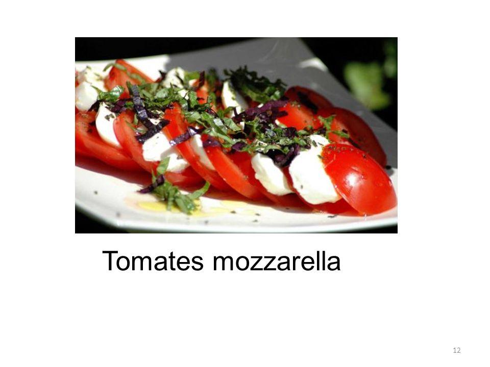 12 Tomates mozzarella