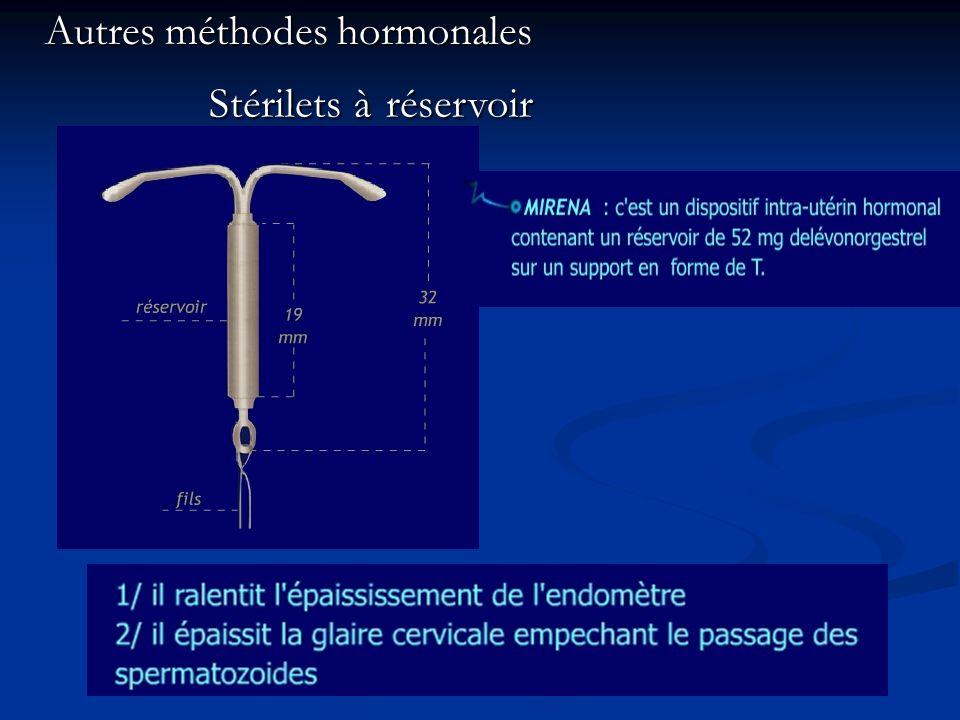 Stérilets à réservoir