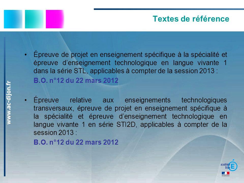 Textes de référence Épreuve de projet en enseignement spécifique à la spécialité et épreuve denseignement technologique en langue vivante 1 dans la sé