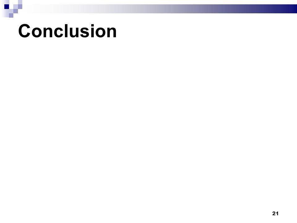 21 Conclusion