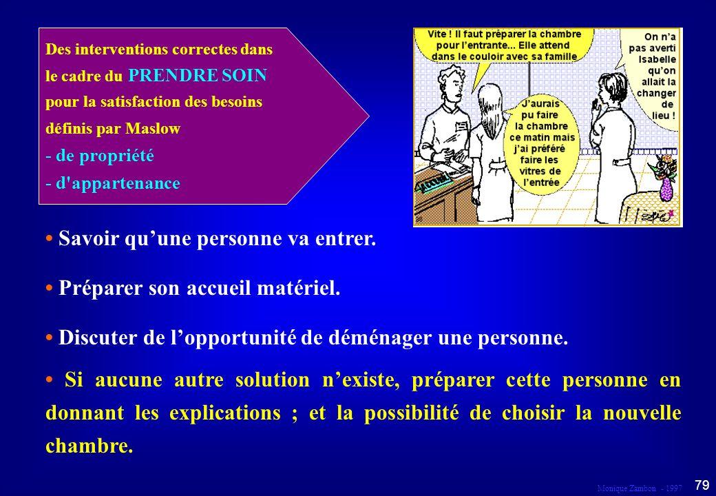 Monique Zambon - 1997 78 Droit au respect et à l information Dans le cadre du prendre soin...