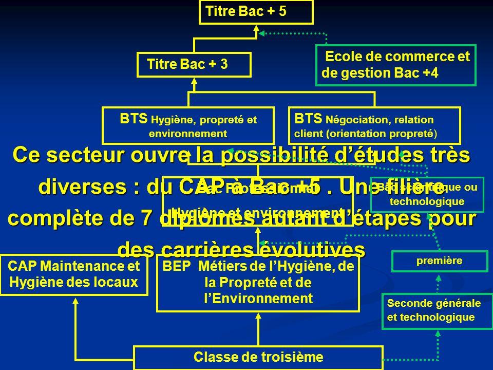 Ce secteur ouvre la possibilité détudes très diverses : du CAP à Bac +5.