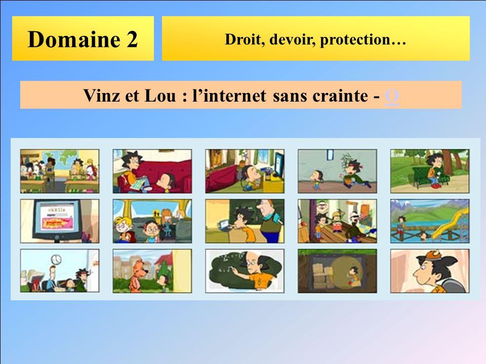 Domaine 2 Droit, devoir, protection… Vinz et Lou : linternet sans crainte - OO