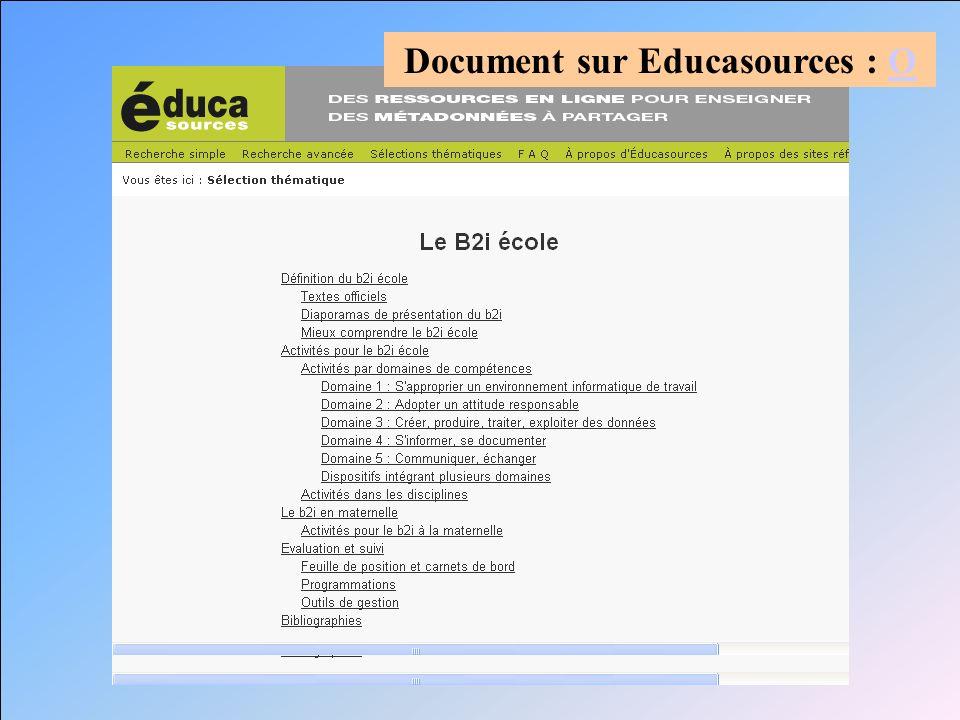 Document sur Educasources : OO