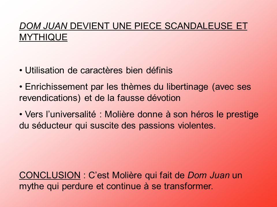 SEANCE 4 LA FAUSSE DEVOTION Don Juan, Molière et le Roi