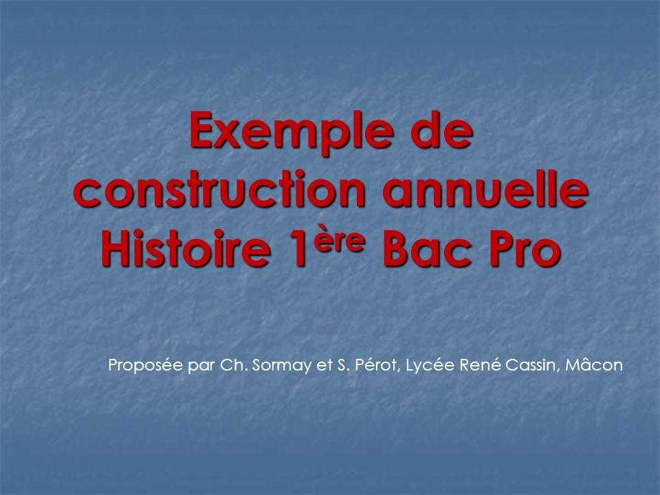 Etat et société en France de 1830 à nos jours Une entrée dans le programme: « La République en construction » Problématiques annuelles: - Comment lEtat et la société se nourrissent-ils mutuellement pour construire une République démocratique en France de 1830 à nos jours.