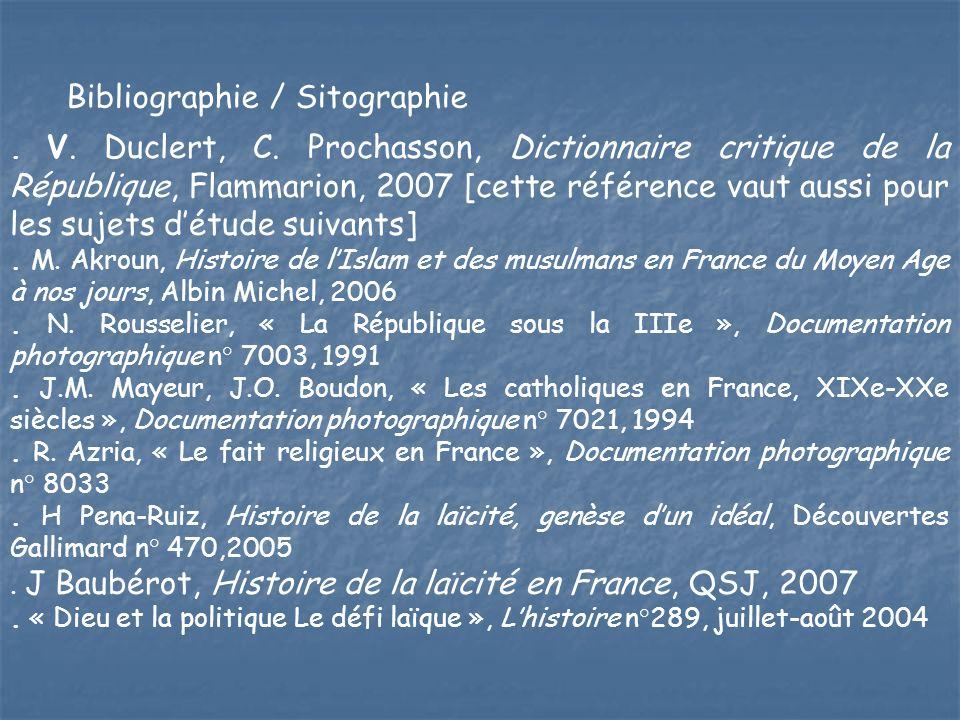 Bibliographie / Sitographie. V. Duclert, C. Prochasson, Dictionnaire critique de la République, Flammarion, 2007 [cette référence vaut aussi pour les
