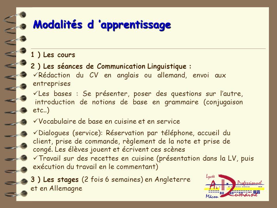 Objectifs Mettre les élèves en situation professionnelle dans les 2 langues Joindre le geste à la parole pour mieux mémoriser Libérer l'élève de LP de