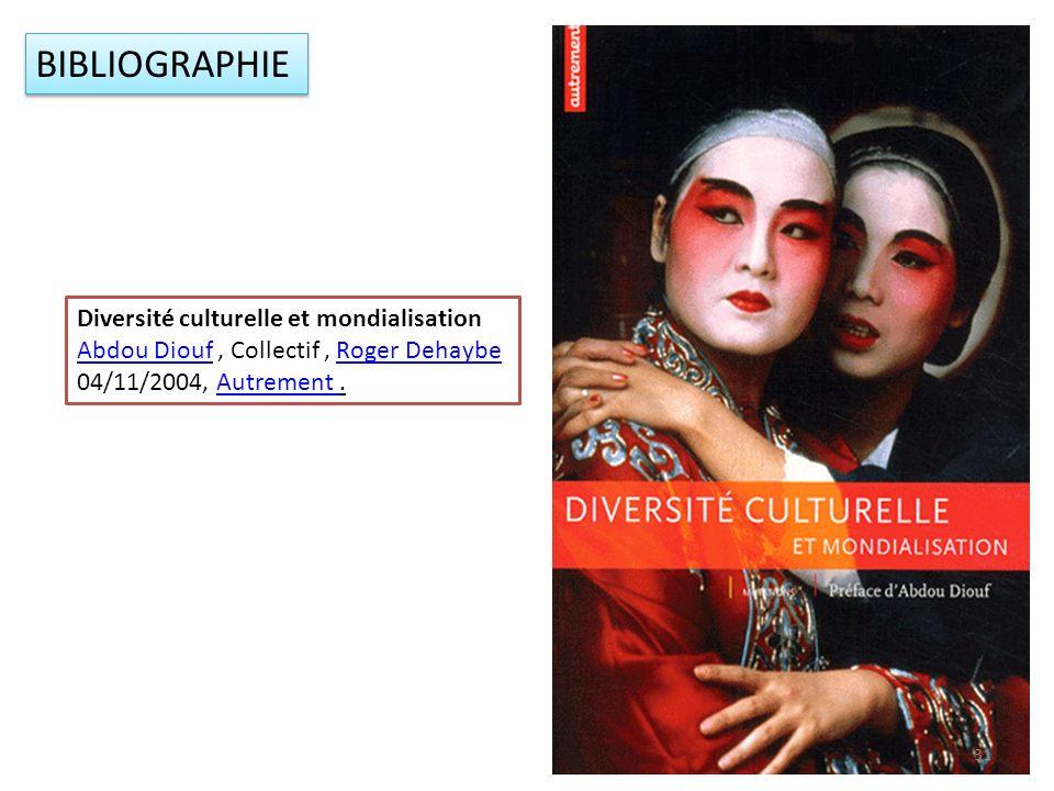 Diversité culturelle et mondialisation Abdou DioufAbdou Diouf, Collectif, Roger DehaybeRoger Dehaybe 04/11/2004, Autrement.Autrement BIBLIOGRAPHIE 31