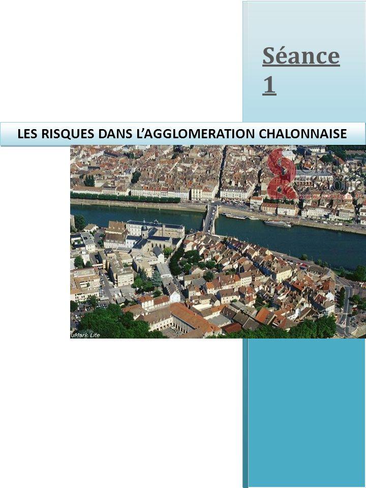 Bioxal Europeroxydes Raffinerie du Midi LES RISQUES DANS LAGGLOMERATION CHALONNAISE Légende : Zones inondables Etablissement industriel à risques, classé SEVESO seuil haut Limite de commune Doc.1
