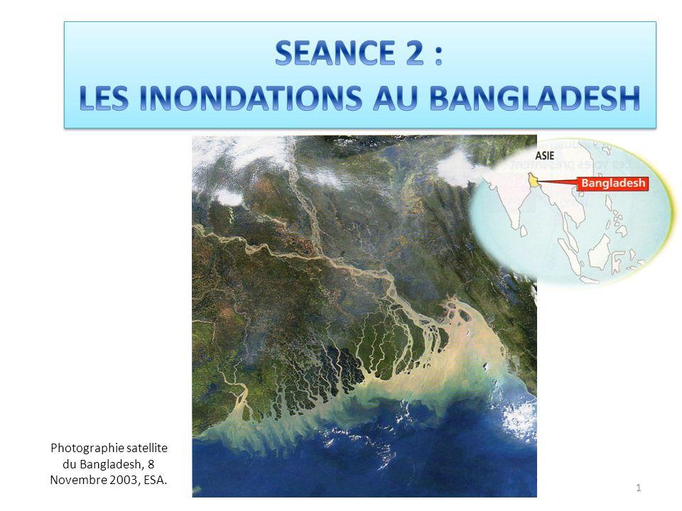 1 Photographie satellite du Bangladesh, 8 Novembre 2003, ESA.