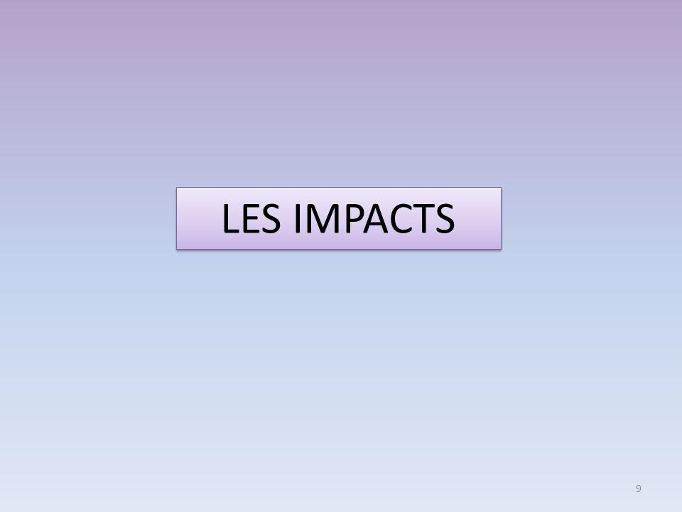 LES IMPACTS 9