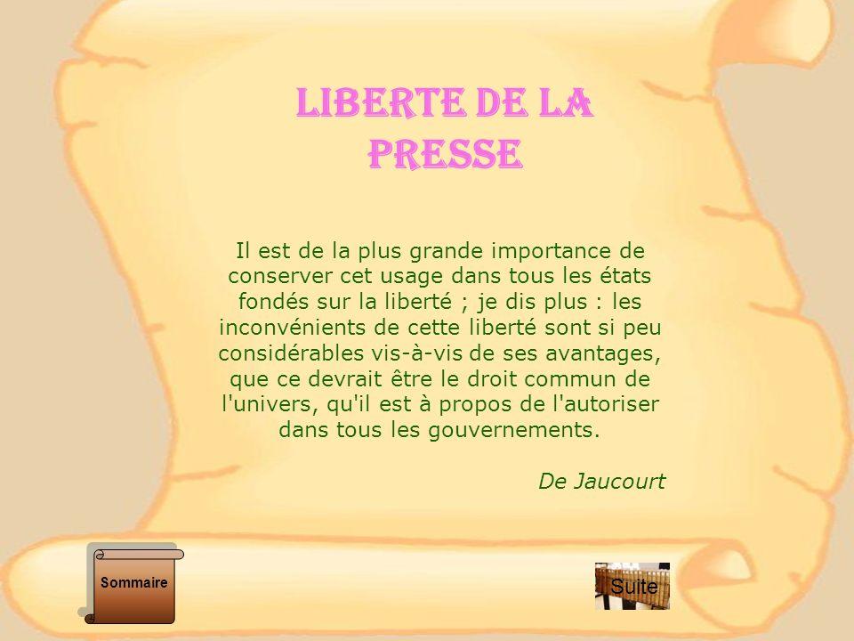 LA POLITIQUE AU XVIII Ème SIECLE Liberté / égalité Gouvernement Despotique La politique et la femme Sommaire Suite