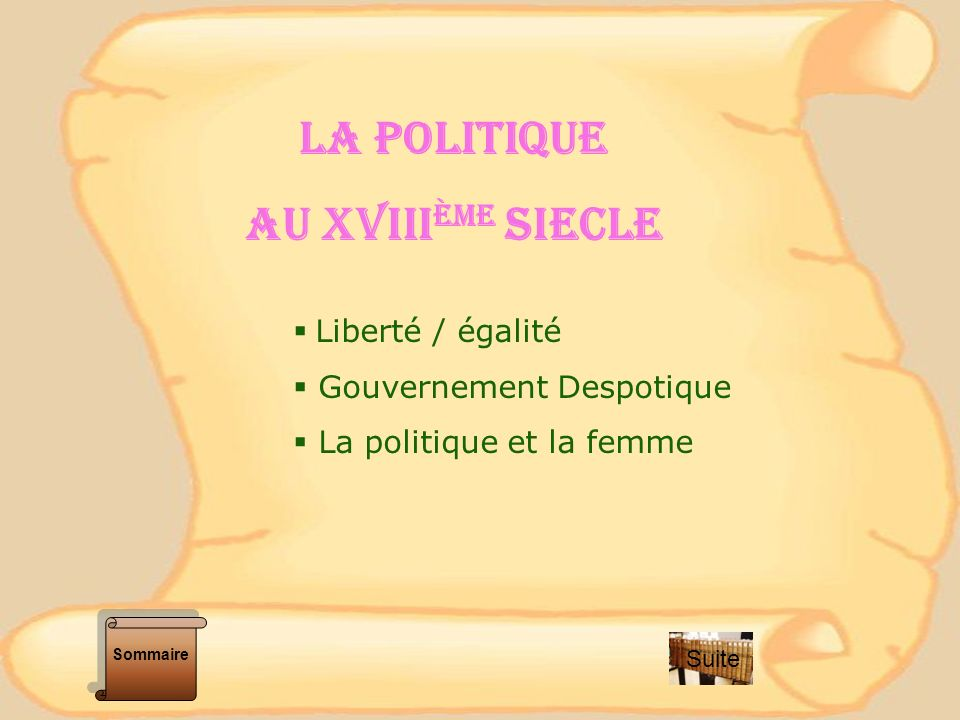 LIBERTE - EGALITE « Dans lEncyclopédie les philosophes disent quaucun homme na reçu de la nature le droit de commander aux autres.