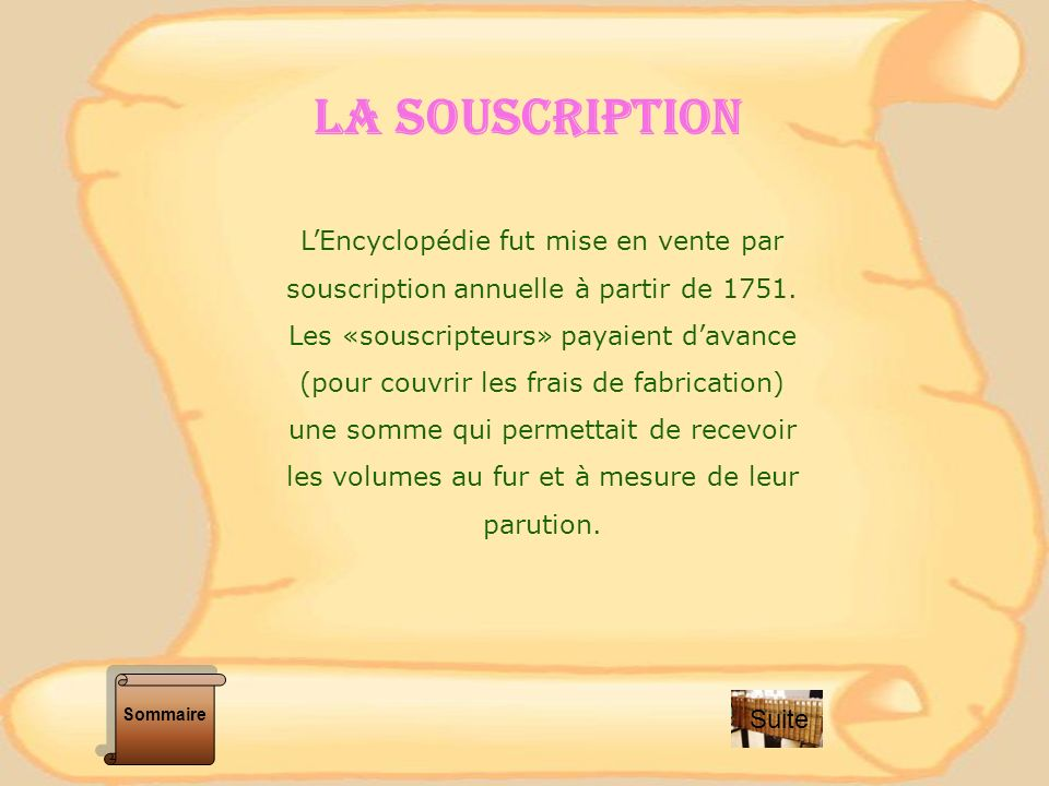 Les tableaux indiquent le nombre de souscripteurs, le montant de la souscription annuelle par volumes et le montant de linscription.