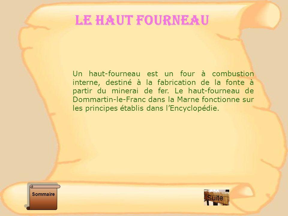 PLAN DUN HAUT FOURNEAU (ENCYCLOPEDIE) Sommaire Suite