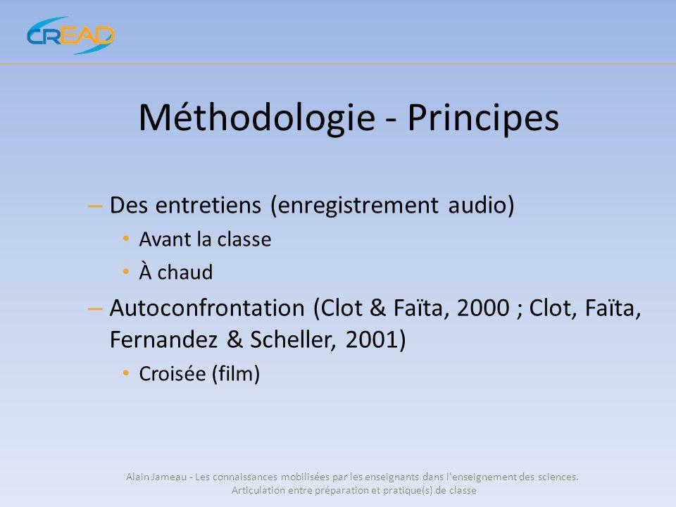 Planification Alain Jameau - Les connaissances mobilisées par les enseignants dans l enseignement des sciences.