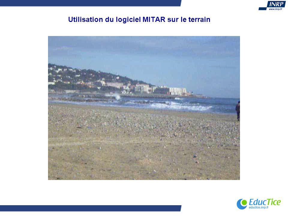 Utilisation du logiciel MITAR sur le terrain