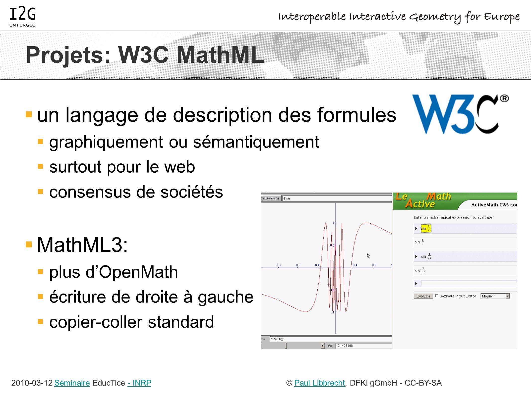 2010-02-03 ActiveMath Seminar© Paul Libbrecht, DFKI GmbH - CC-BY-SAPaul Libbrecht17 recherche avec GeoSkills avantages sémantique multi-mots somme de Riemmann somme de tenseurs de Riemann angle droit angles...