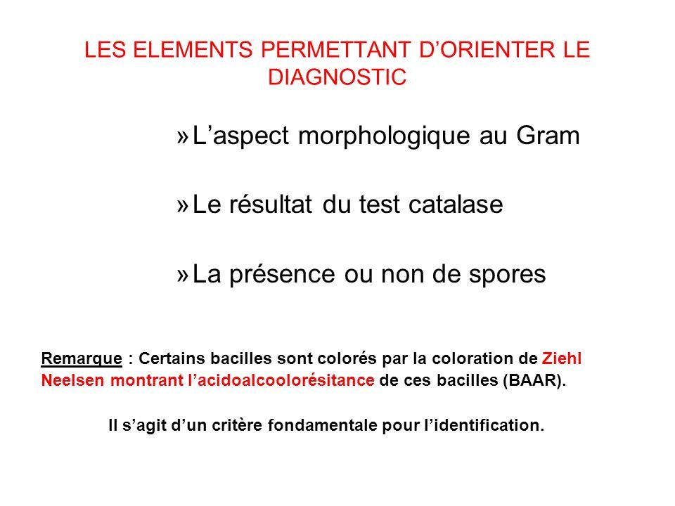 Les elements permettant dorienter le diagnostic »laspect