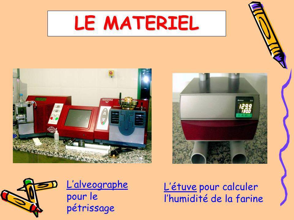 Lalveographe pour le pétrissage Létuve pour calculer lhumidité de la farine LE MATERIEL