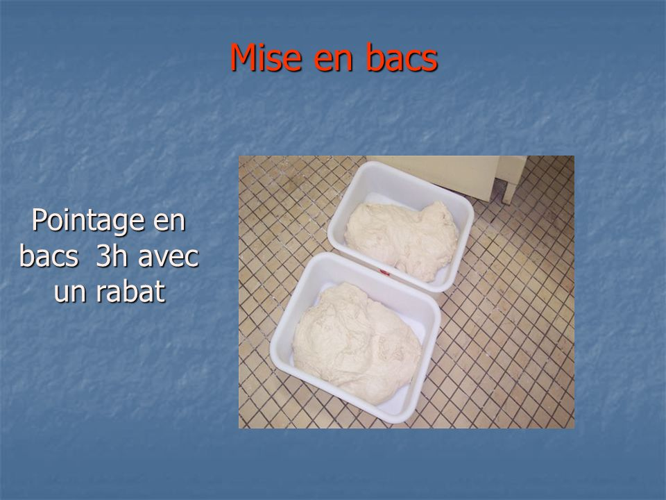 Bassinage Après 10 minutes en 2ème vit bassiner avec 1 l deau environ et pétrir 5 minutes.