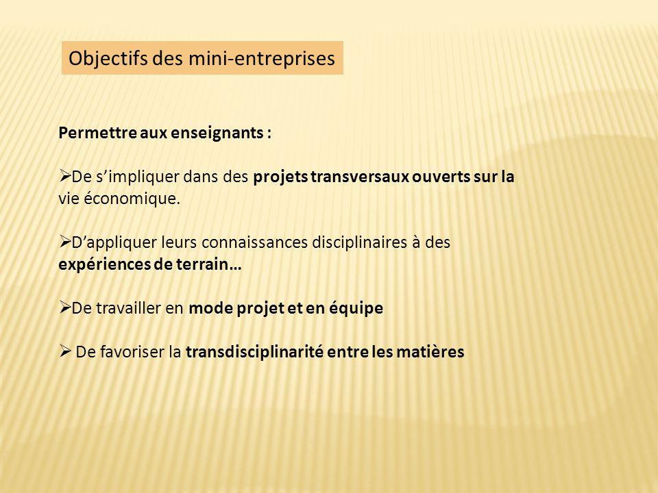 Mini-entreprise : quel fonctionnement .