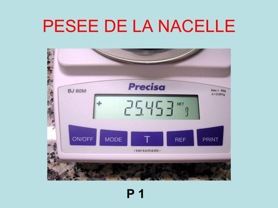 PESEE: nacelle + 5g farine